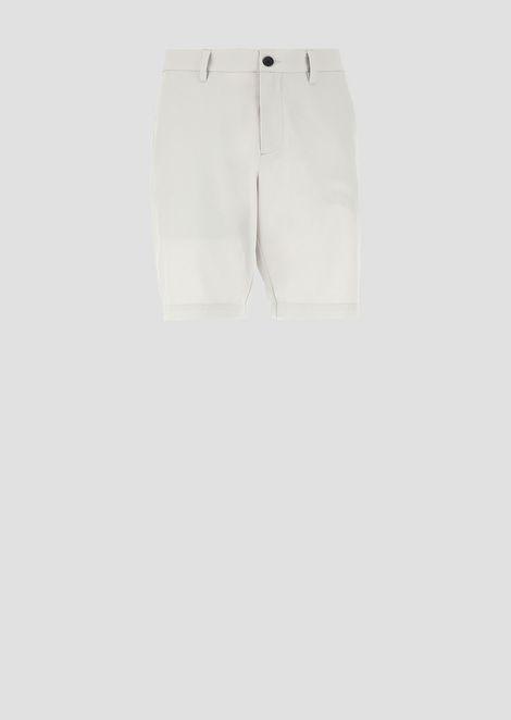 Green Club Bermuda shorts in stretch fabric