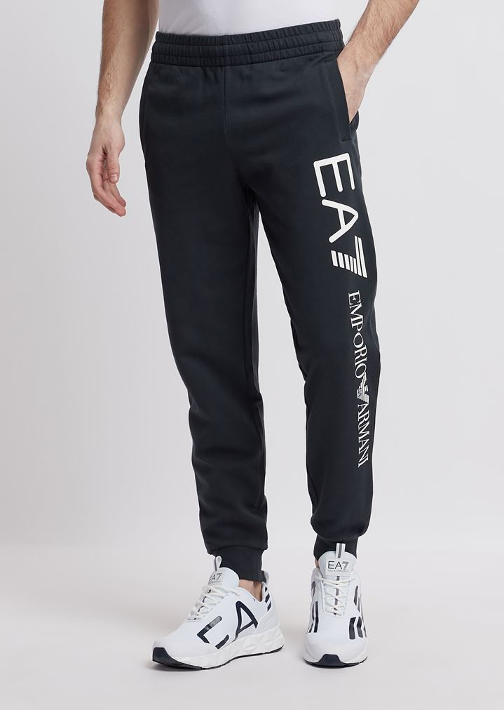 680f2e5cc6 Train Logo jogging trousers in baby French terry cotton