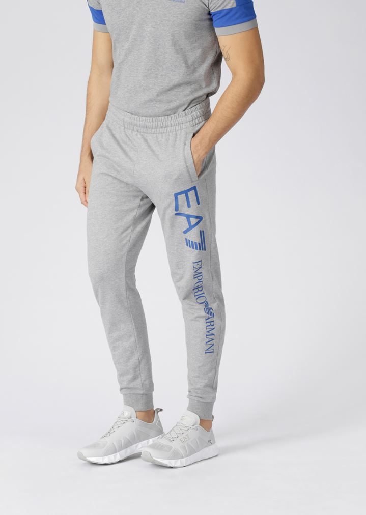 fac55d485f Train Logo jogging trousers in baby French terry cotton