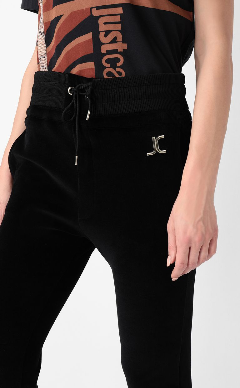 JUST CAVALLI Track trousers with designer logo Casual pants Woman e