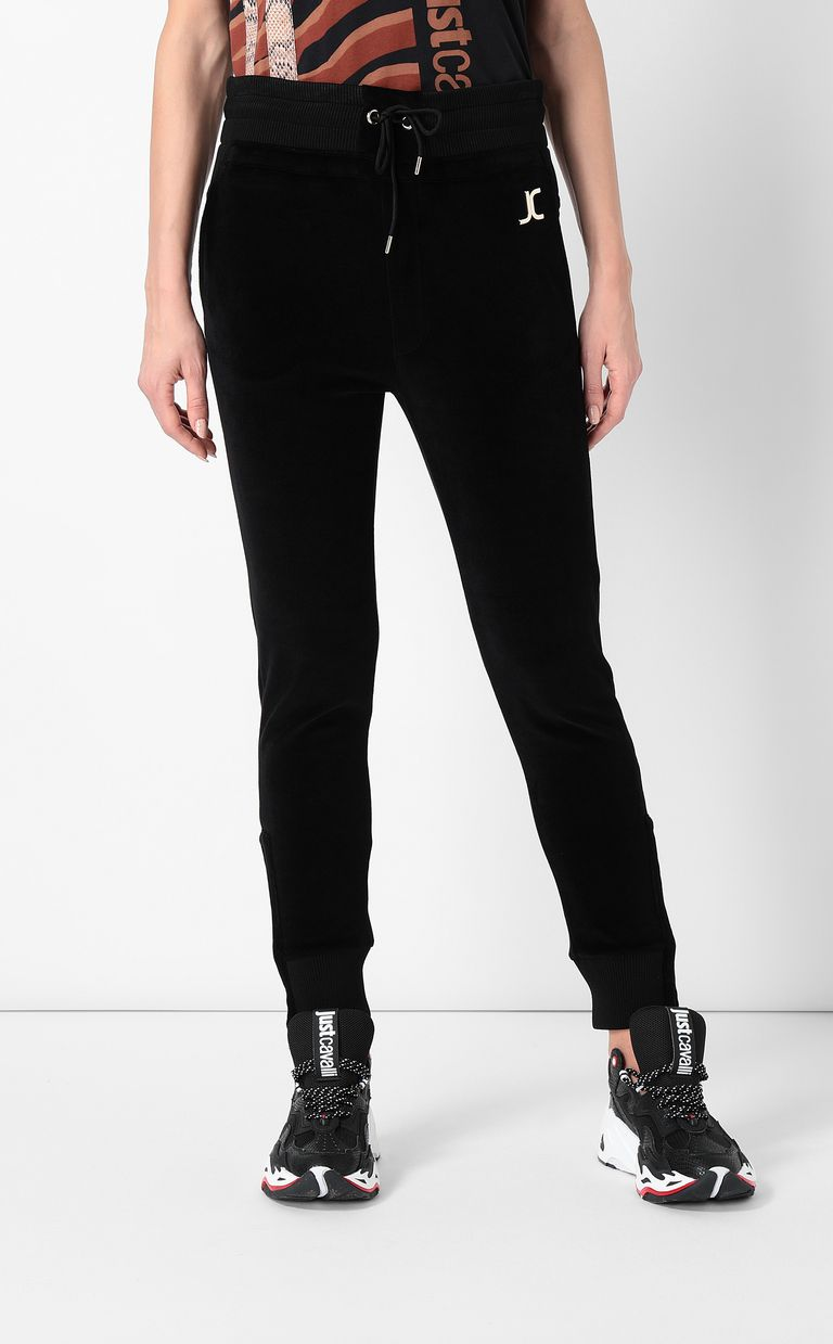 JUST CAVALLI Track trousers with designer logo Casual pants Woman r