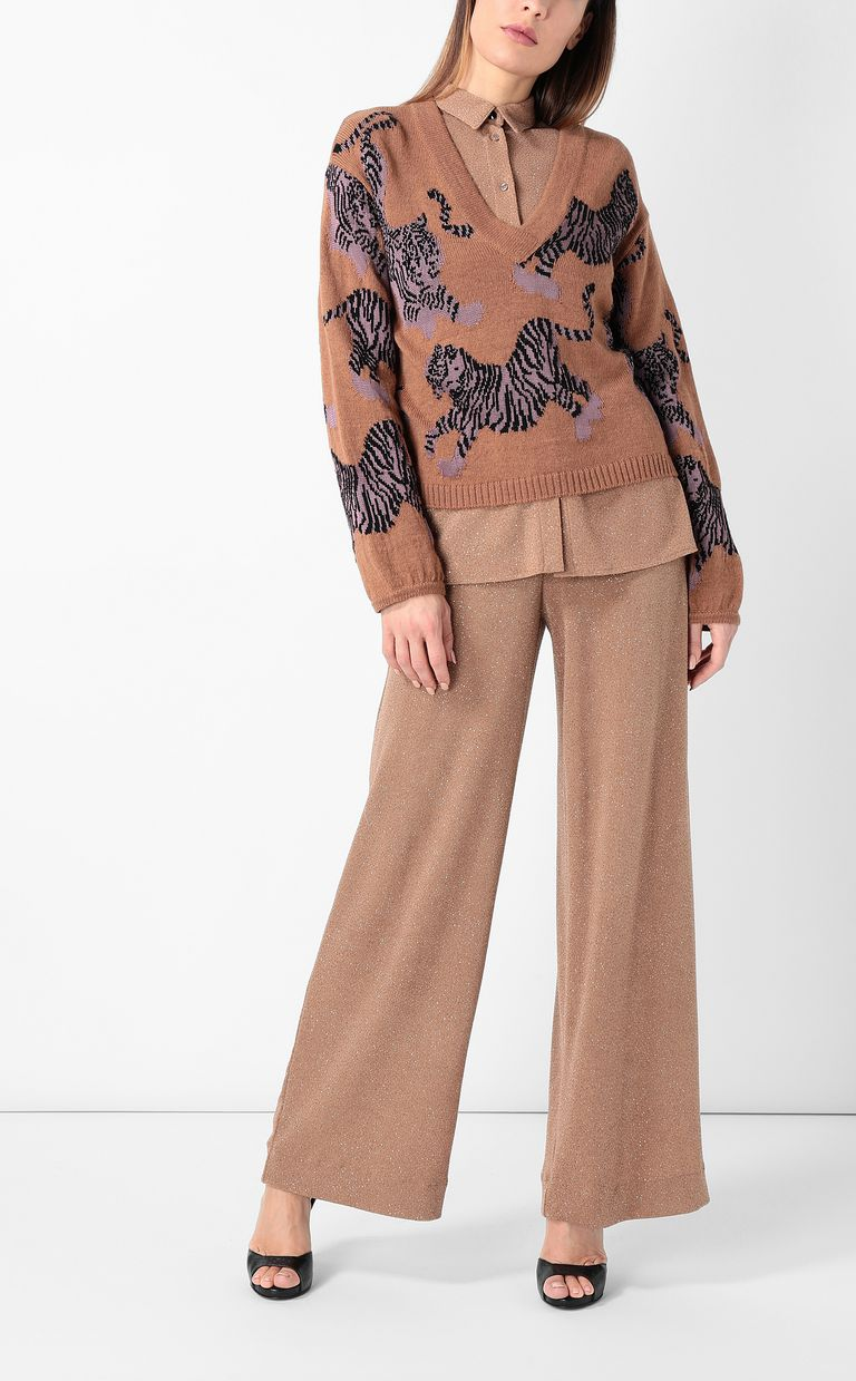 JUST CAVALLI Elegant lurex trousers Casual pants Woman d