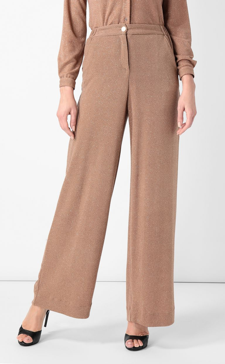 JUST CAVALLI Elegant lurex trousers Casual pants Woman r