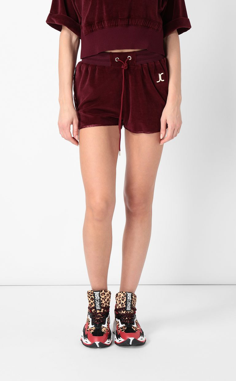 JUST CAVALLI Velours shorts Shorts Woman r