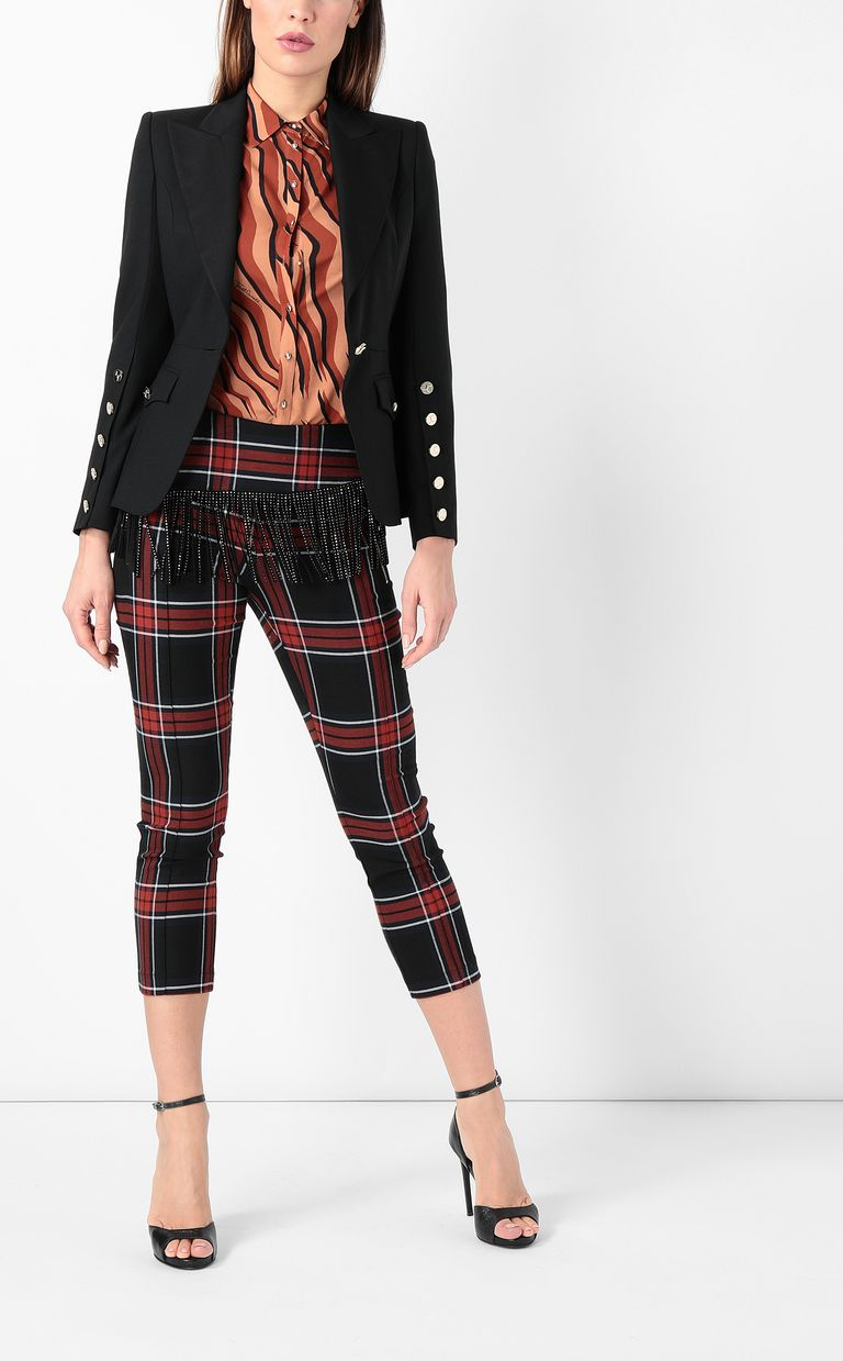JUST CAVALLI Tartan trousers with fringing Casual pants Woman d
