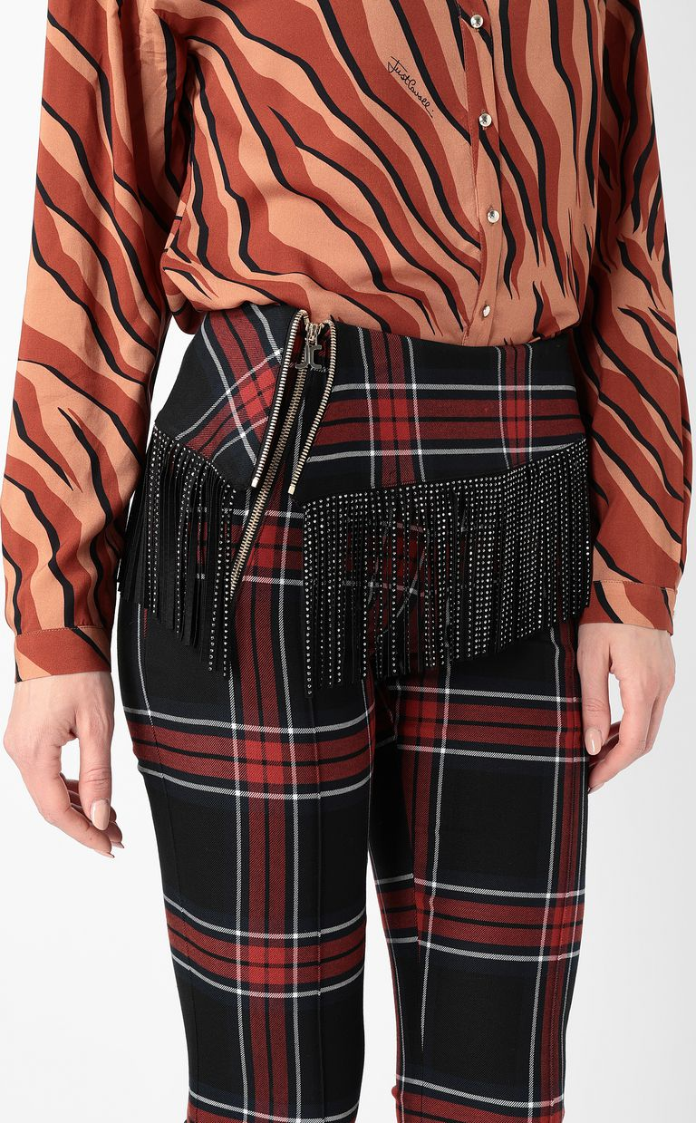 JUST CAVALLI Tartan trousers with fringing Casual pants Woman e