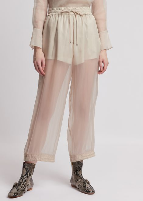 Jodhpur trousers in washed tech organza