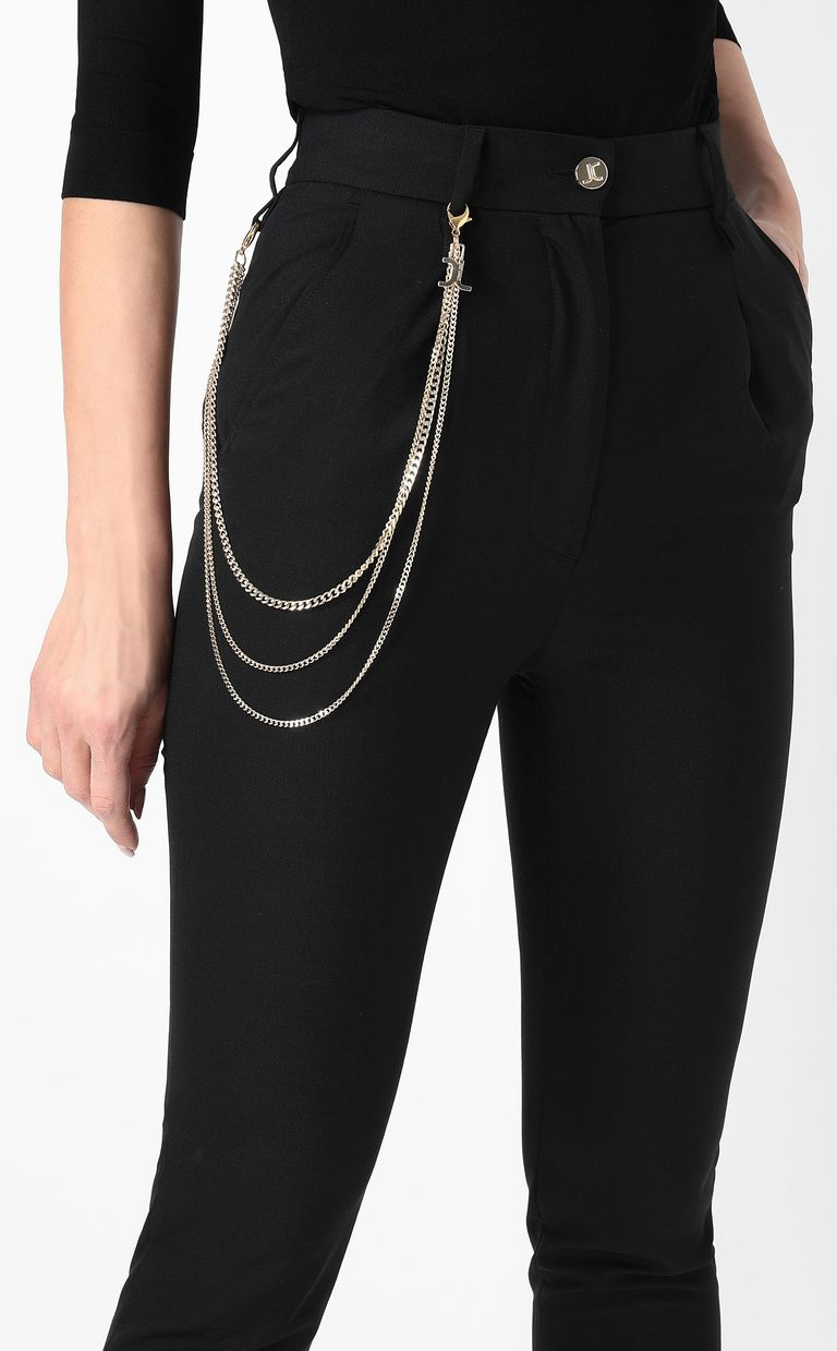 JUST CAVALLI Elegant trousers with chain detail Casual pants Woman e