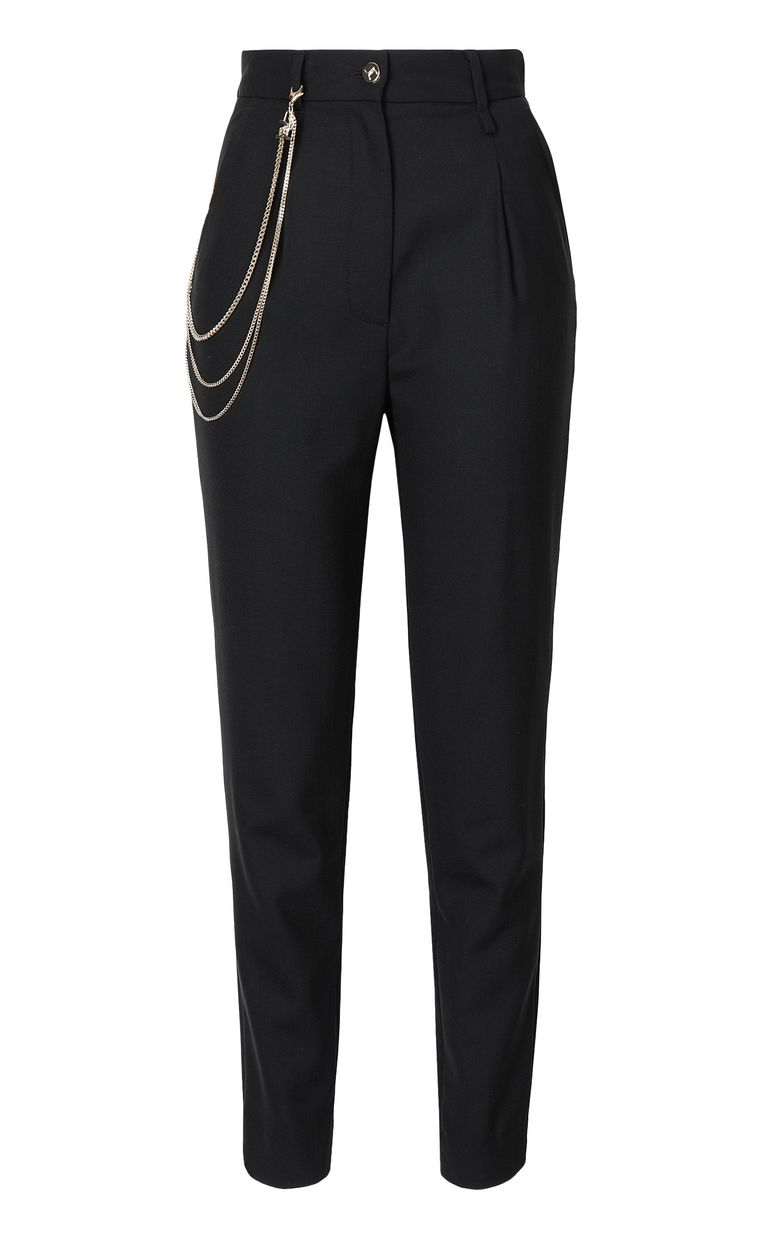 JUST CAVALLI Elegant trousers with chain detail Casual pants Woman f