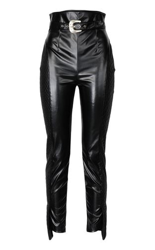 JUST CAVALLI Casual trouser Woman Trousers in faux leather f