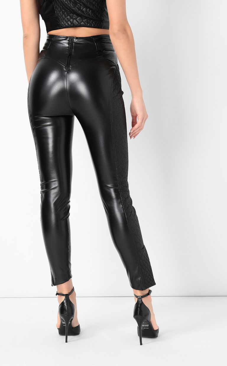 JUST CAVALLI Trousers in faux leather Casual pants Woman a