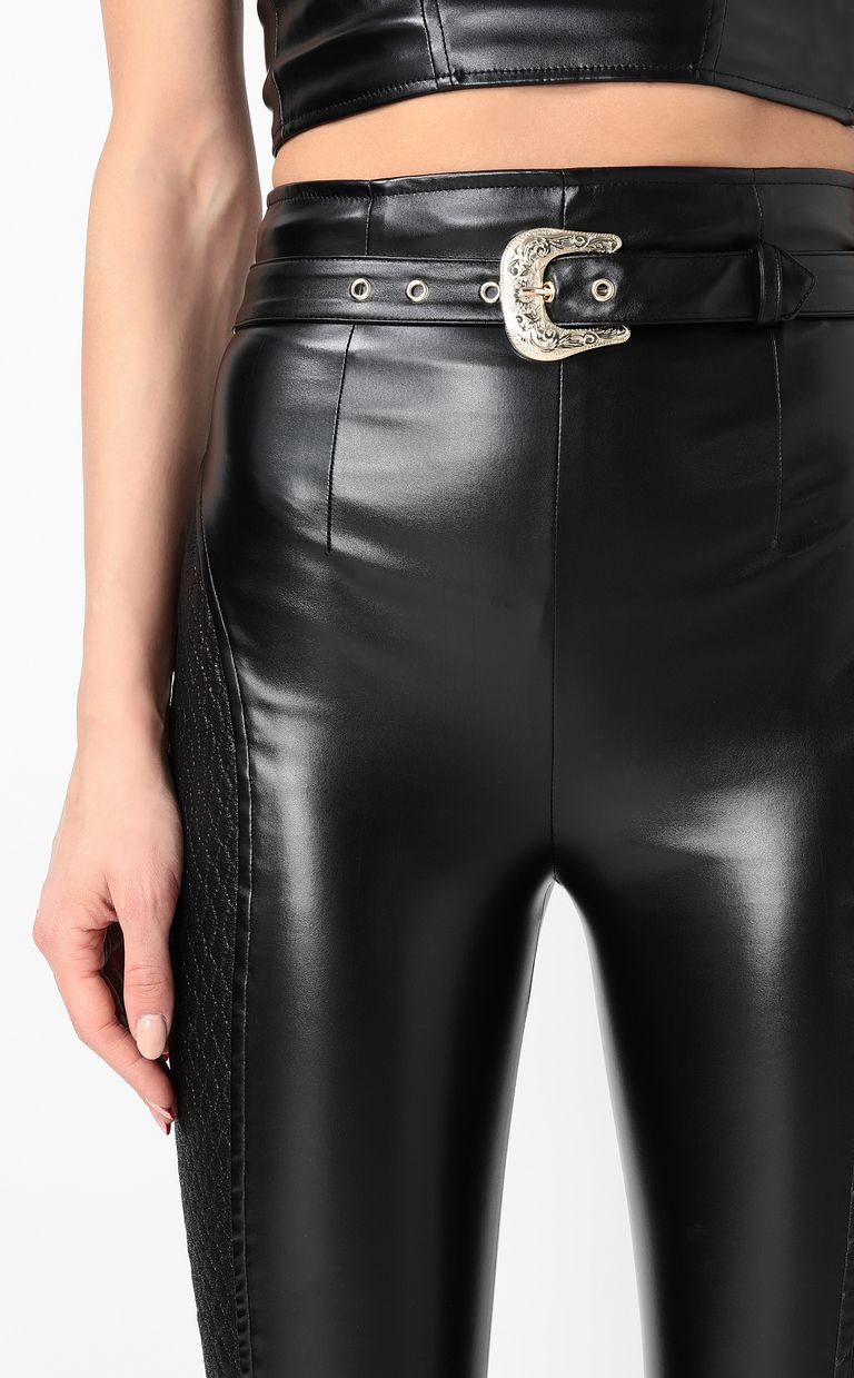 JUST CAVALLI Trousers in faux leather Casual pants Woman e