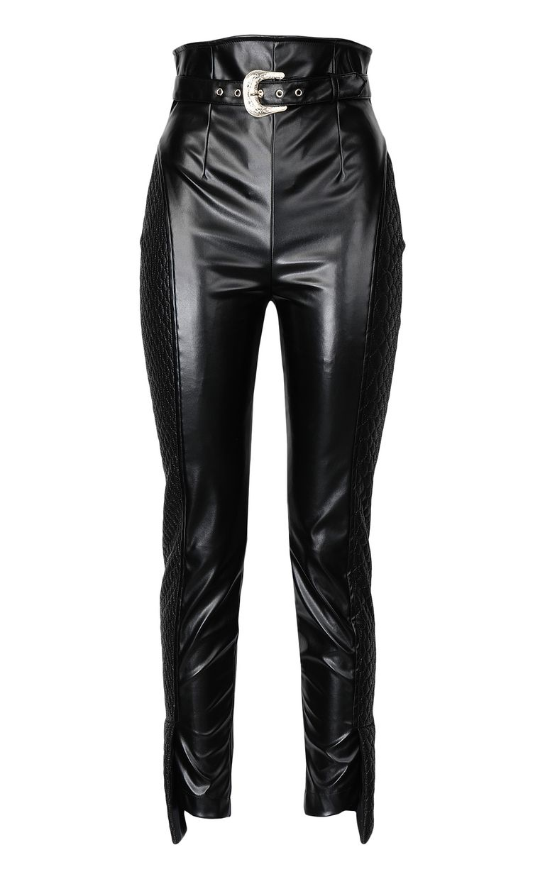 JUST CAVALLI Trousers in faux leather Casual pants Woman f