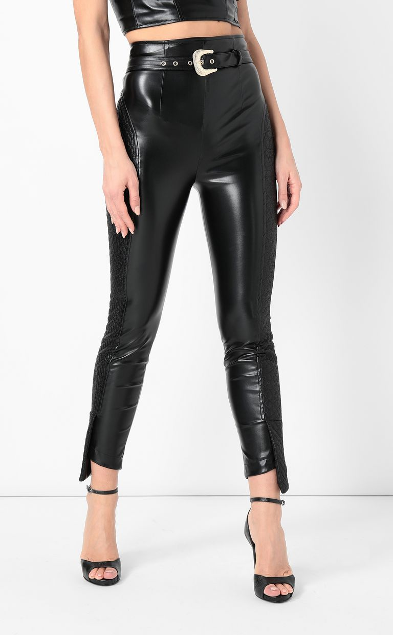 JUST CAVALLI Trousers in faux leather Casual pants Woman r