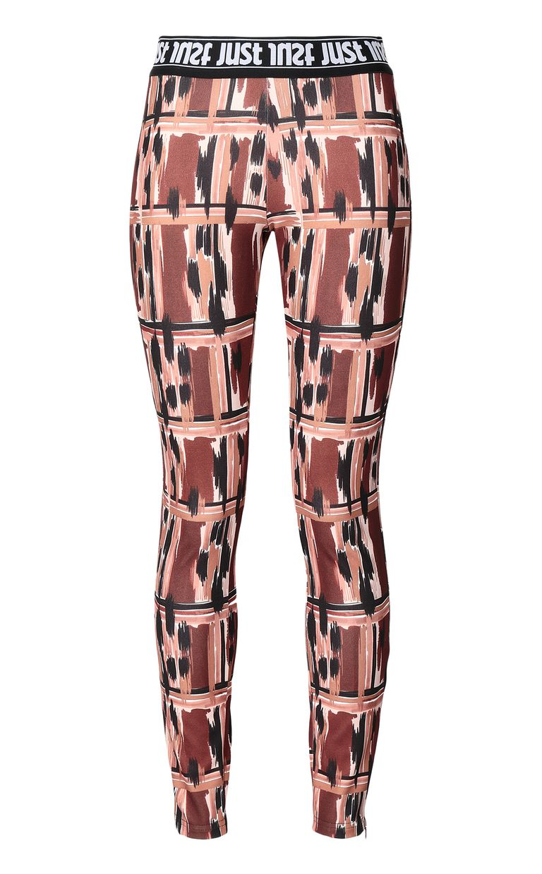 "JUST CAVALLI ""Wild-Tartan"" print trousers Casual pants Woman f"
