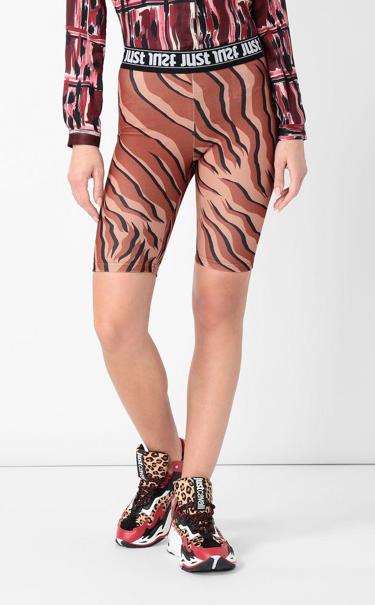 JUST CAVALLI Figure-hugging animal-print shorts Shorts Woman r