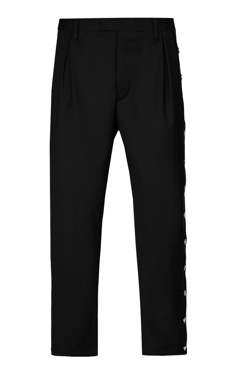 JUST CAVALLI Trousers with side buttons Casual pants Man f