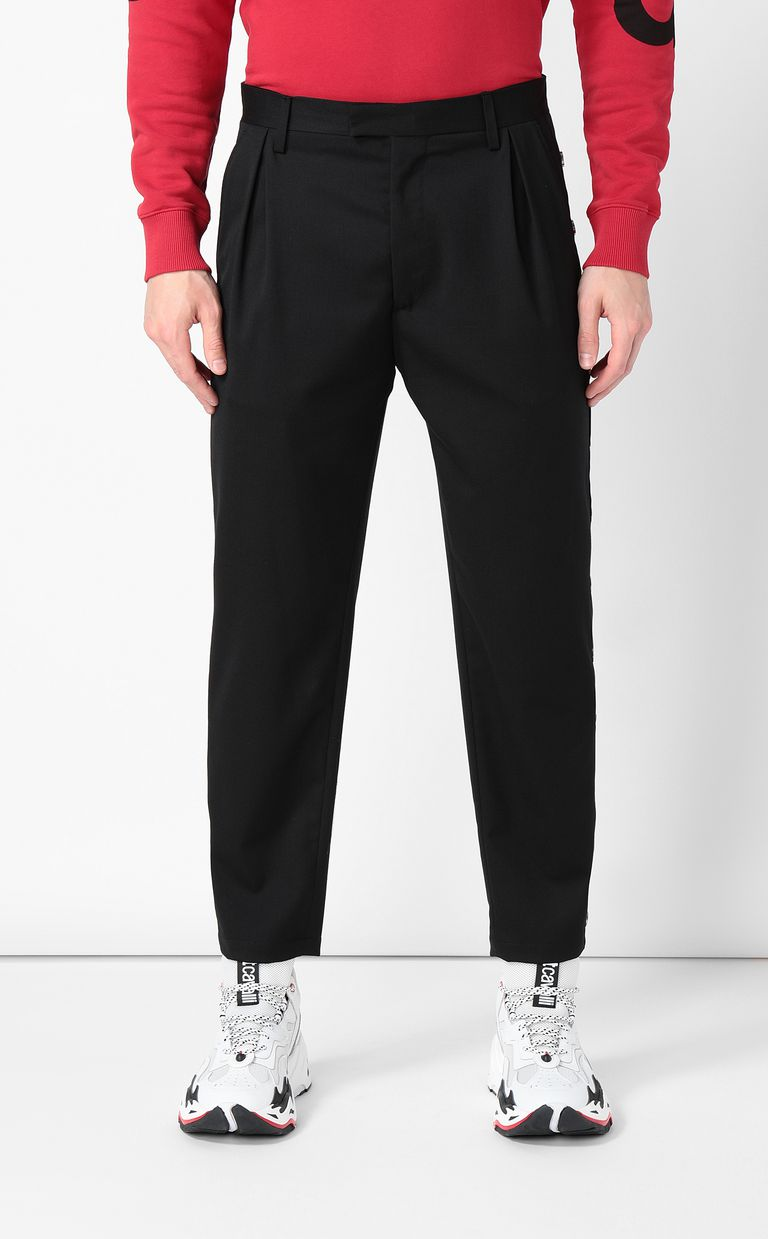 JUST CAVALLI Trousers with side buttons Casual pants Man r