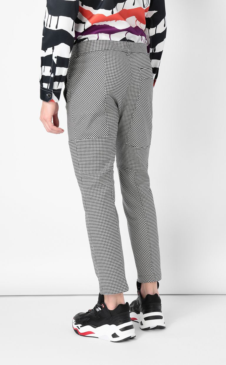 JUST CAVALLI Houndstooth-Check Trousers Casual pants Man a