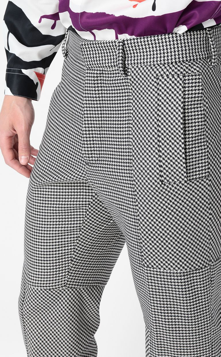 JUST CAVALLI Houndstooth-Check Trousers Casual pants Man e