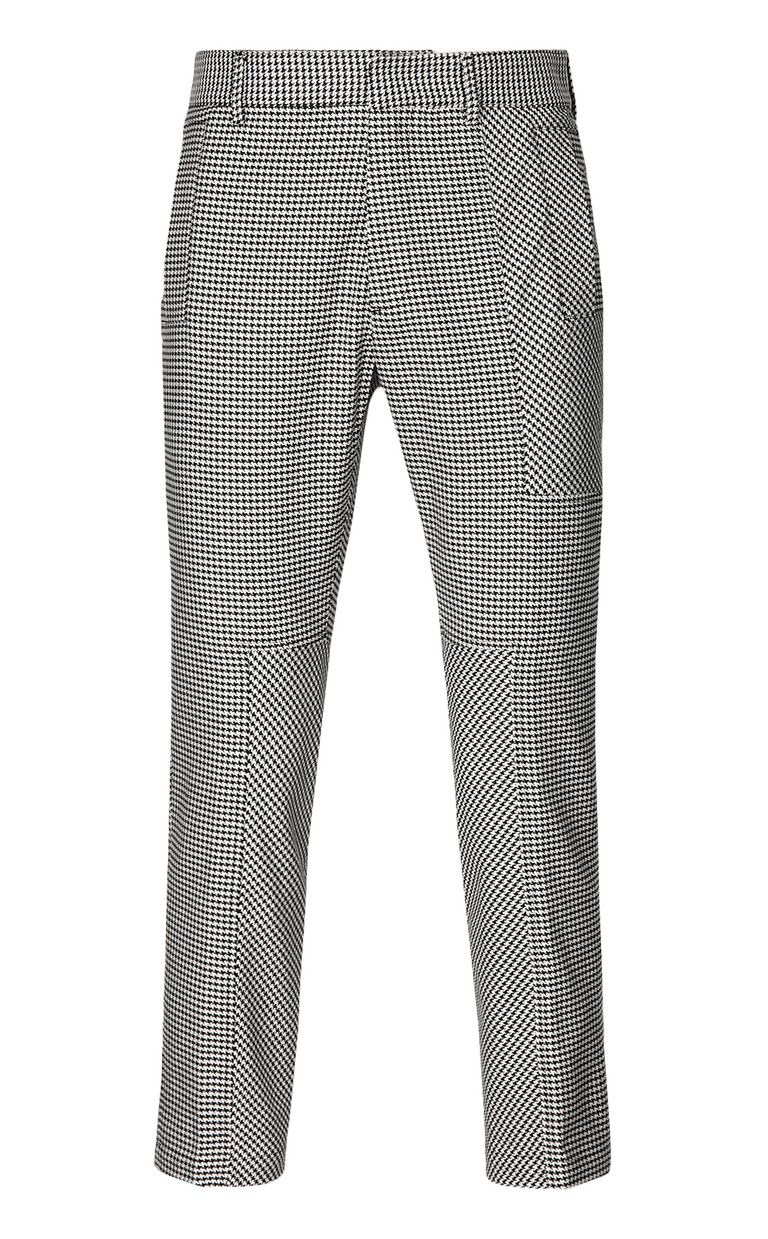 JUST CAVALLI Houndstooth-Check Trousers Casual pants Man f