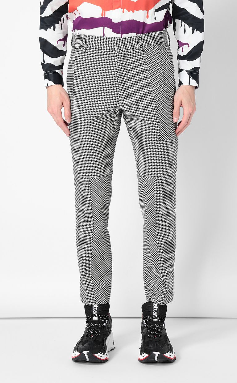 JUST CAVALLI Houndstooth-Check Trousers Casual pants Man r