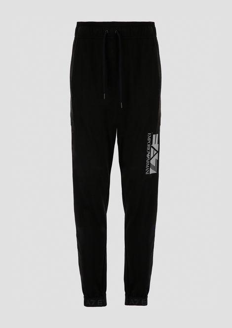 Pantaloni joggers in felpa di cotone con logo