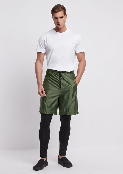 Double-layer trousers with shorts and leggings in tech fabric