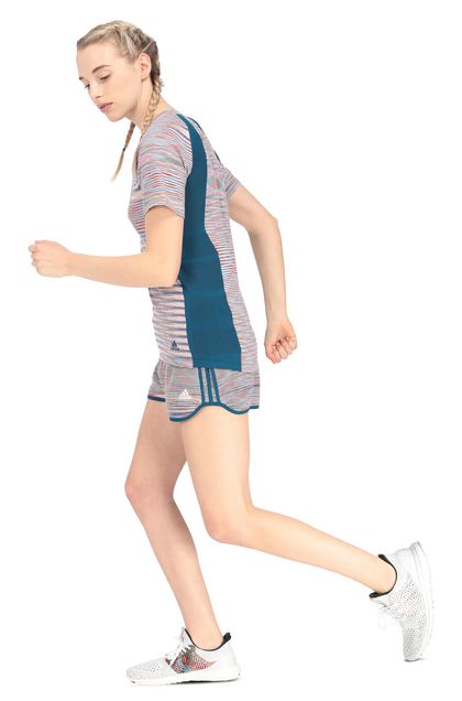 MISSONI ADIDAS X MISSONI SHORTS Blue Woman - Front