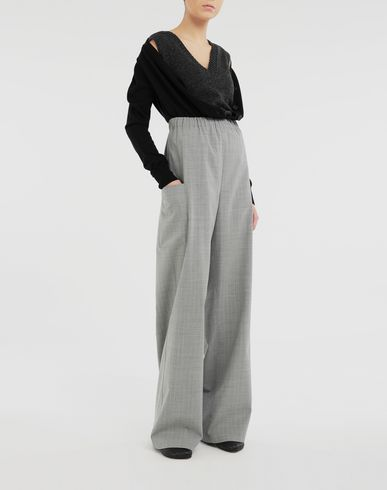 TROUSERS Wide-leg trousers Grey