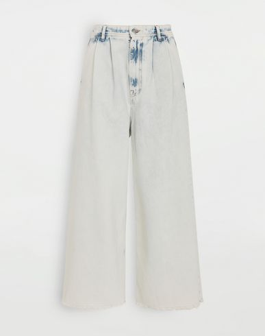 TROUSERS Wide-leg jeans  Blue