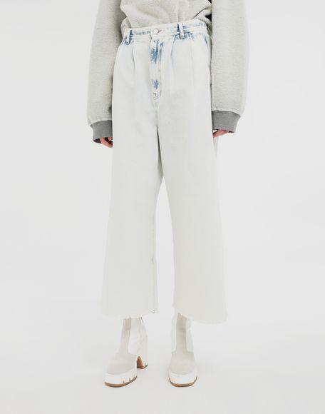 MM6 MAISON MARGIELA Jeans mit weitem Bein Jeanshose Dame r