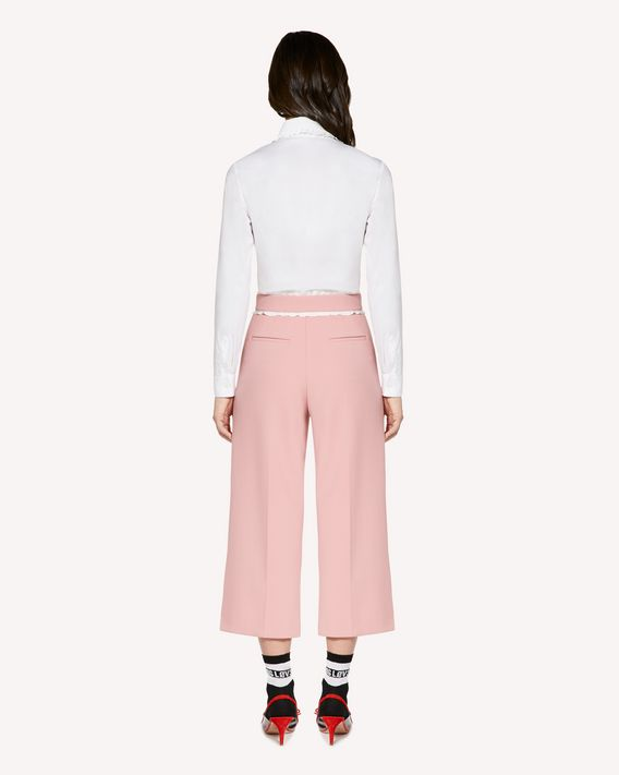 REDValentino Ruffles detail Cady Tech cropped pants