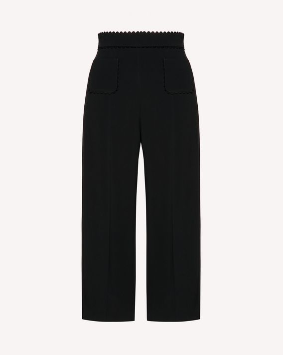 REDValentino Pantalon court en frisotine stretch avec galon