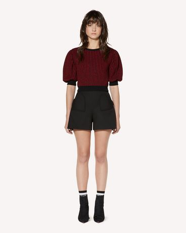 REDValentino SR3RFB451Y1 0NO Shorts Woman f