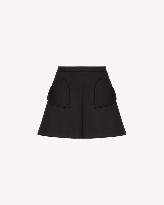 REDValentino Technical tricotine shorts with heart detail