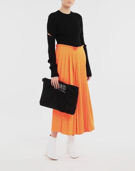 MM6 MAISON MARGIELA Pleated wide trousers Trousers Woman d