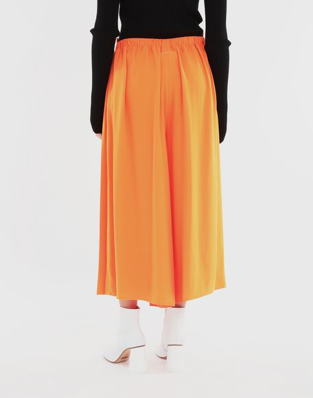 MM6 MAISON MARGIELA Pleated wide trousers Trousers Woman e