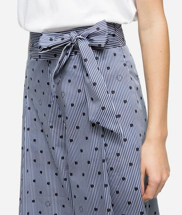 KARL LAGERFELD K/DOTS WIDE LEG PANTS