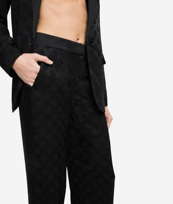 KARL LAGERFELD K/DOTS TAILORED PANTS