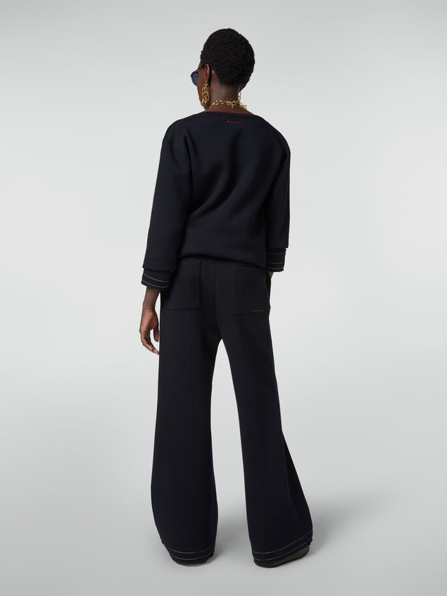 Marni Drawstring trousers in double wool jersey Woman