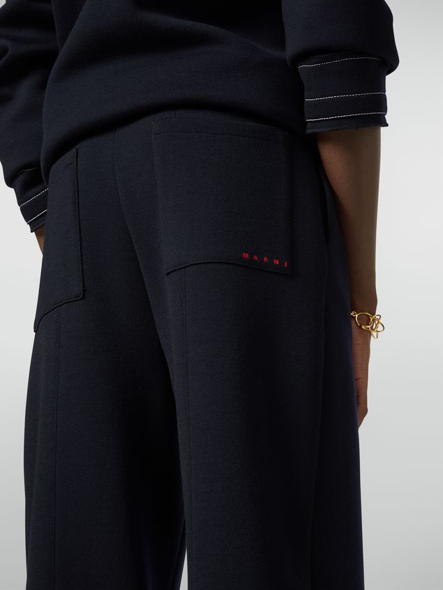 Marni Drawstring trousers in double wool jersey Woman - 5