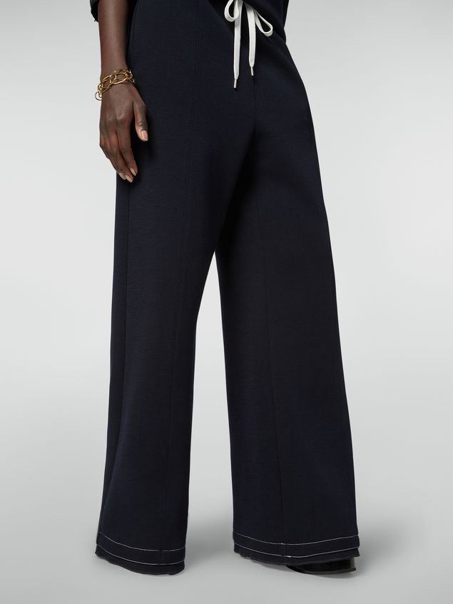 Marni Drawstring trousers in double wool jersey Woman - 4