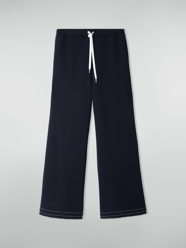 Marni Drawstring trousers in double wool jersey Woman - 2