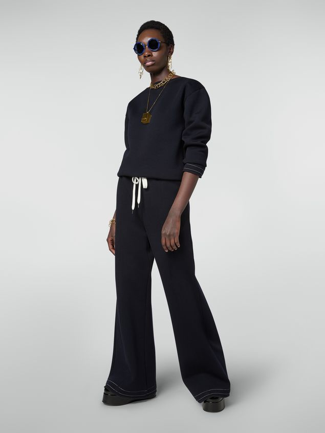 Marni Drawstring trousers in double wool jersey Woman - 1
