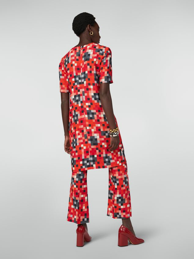 Marni Trousers in cady Steel Magnolias print Woman - 3