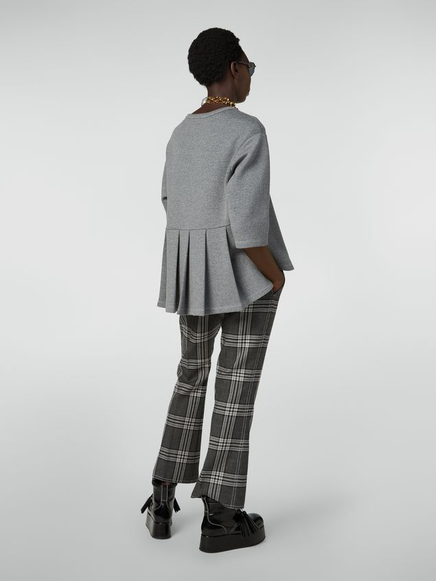 Marni Trousers in checquered motif yarn-dyed wool Woman