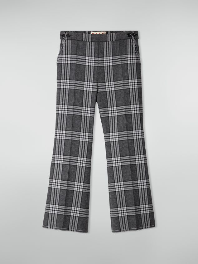 Marni Trousers in checquered motif yarn-dyed wool Woman - 2