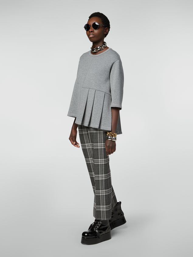 Marni Trousers in checquered motif yarn-dyed wool Woman - 1