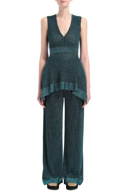 M MISSONI Pants Deep jade Woman - Back